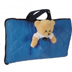 Sac de dormit pentru calatorii cu ursulet de plus inclus Tuloko TL004 Albastru