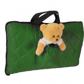 Sac de dormit pentru calatorii cu ursulet de plus inclus Tuloko TL004 Verde