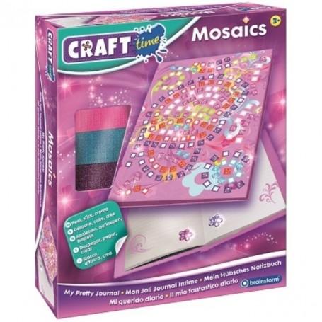 Kit Mozaic Jurnalul meu Secret Brainstorm Toys C7252 Initiala