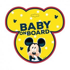 Semn de avertizare Baby on Board Mickey Seven SV9612 Initiala