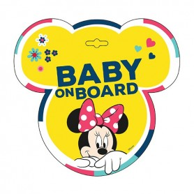 Semn de avertizare Baby on Board Minnie Seven SV9613 Initiala