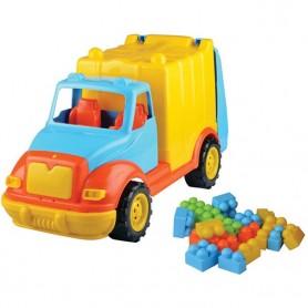 Camion pentru gunoi 48 cm cu 38 piese constructie Ucar Toys UC86 Initiala