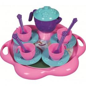 Set de ceai cu tavita 16 piese Ice World Ucar Toys UC124 Initiala