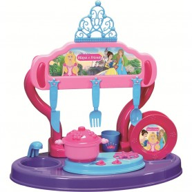 Bucatarie copii 15 piese Princess Maya and Friends Ucar Toys UC126 Initiala
