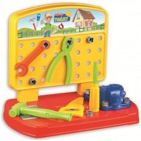Banc de lucru Handy Tommy 28 piese Ucar Toys UC131 Initiala