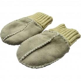 Manusi din piele si blanita de miel cu mansete tricotate Altabebe MT4030L-01 Gri