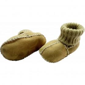 Botosei din piele si blanita de miel cu mansete tricotate - Marime 16 Altabebe MT4031L-01 Galben