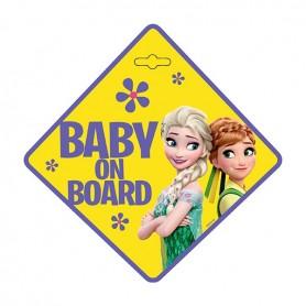 Semn de avertizare Baby on Board Frozen Seven SV9611 Initiala