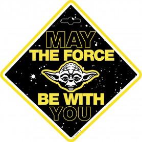 Semn de avertizare Baby on Board Star Wars Yoda Seven SV9623 Initiala