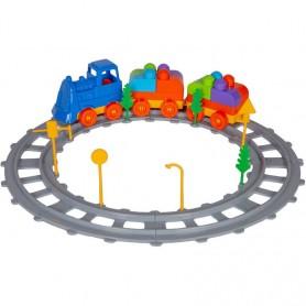 Set Tren 43 piese Magic Blocks Ucar Toys UC72 Initiala