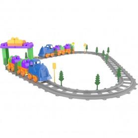 Set Tren 93 piese Magic Blocks Ucar Toys UC74 Initiala