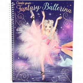 Carte de colorat Create your Fantasy Model Ballerina Depesche PT10195 Initiala