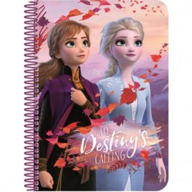Carnetel de notite Disney Frozen Ice Magic 3D A5 SunCity ARJ002787A Initiala