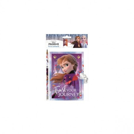 Jurnal Disney Frozen cu lacatel si creion SunCity ARJ003869 Initiala
