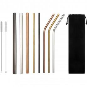 Set 8 paie metalice, 2 x Perii de curatare, Husa, Multicolor In One IN1001 Initiala