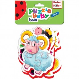 Puzzle Bebe Animale de la Ferma, 16 piese Roter Kafer RK6010-03 Initiala