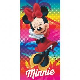 Prosop de plaja microfibra Minnie 70*140 cm Star ST50290 Initiala