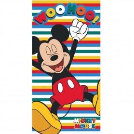 Prosop de plaja microfibra Mickey WooHoo 70*140 cm Star ST50292 Initiala