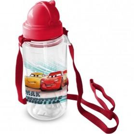 Sticla pentru copii Cars cu pai, 450 ml Star ST59718 Initiala