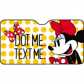 Parasolar pentru parbriz Minnie Dot Me Maxi 150x80 cm Disney CZ10258 Initiala