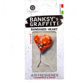 Odorizant auto Bandaged Heart Banksy UB27002 Initiala