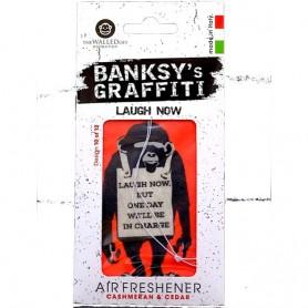 Odorizant auto Laugh Now Banksy UB27010 Initiala