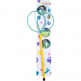 Bat cu inele pentru baloane de sapun Ring Pro Multi Butterfly 40 cm Tuban TU3614 Initiala