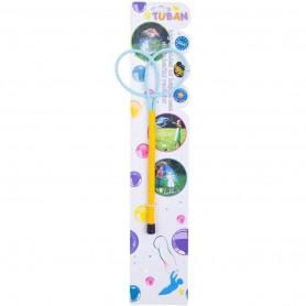 Bat cu inele pentru baloane de sapun Ring Mini Butterfly 20 cm Tuban TU3615 Initiala