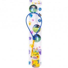 Set Bat cu inel pentru baloane de sapun 35 cm si Solutie baloane de sapun 250 ml Tuban TU3645 Initiala