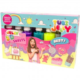 Set Tubi Jelly cu 6 culori - Dulciuri Tuban TU3323 Initiala