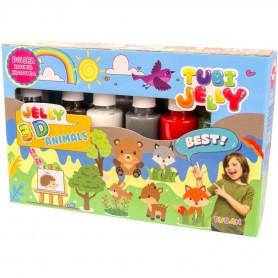 Set Tubi Jelly cu 6 culori - Animale Tuban TU3326 Initiala
