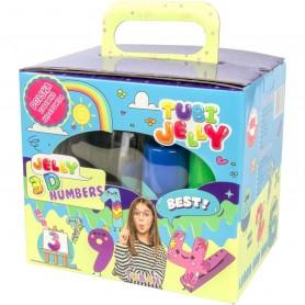 Set Tubi Jelly cu 6 culori si un acvariu mic - Numere Tuban TU3331 Initiala