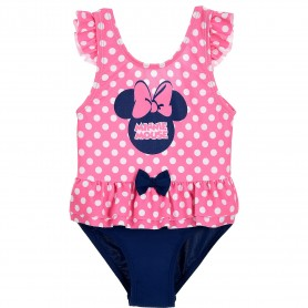 Costum baie cu volanase Minnie SunCity ET0051 Roz