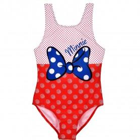 Costum baie cu fundita Minnie SunCity ET1723 Rosu