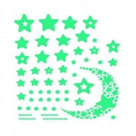 Set stickere fosforescente in Forma de Stele si Semiluna, 52 Bucati Iso Trade MY17368 Initiala