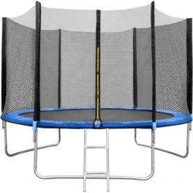 Set Trambulina 180 cm cu plasa si scarita  In One IO0027 Albastru