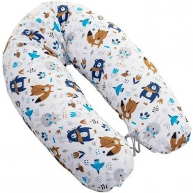 Perna pentru gravide si alaptat Rogal 170 cm Infantilo IF19017 Ursuleti Albastru Inchis