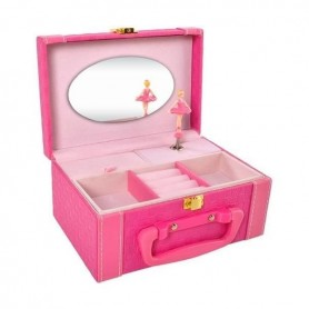 Cutie bijuterii muzicala cu balerina Iso Trade MY17459 Roz