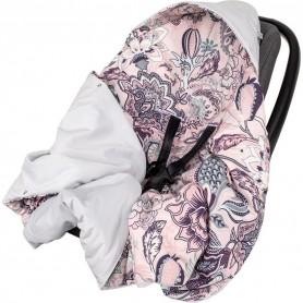 Paturica de infasat pentru scaun auto Velvet Infantilo IF19109 Boho Roz/Gri