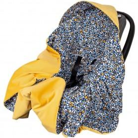 Paturica de infasat pentru scaun auto Velvet Infantilo IF19109 Stones/Galben