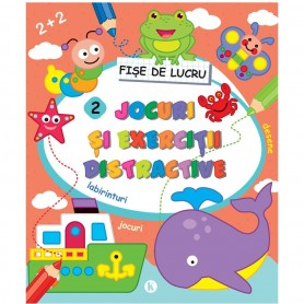 Jocuri si exercitii distractive 2 Editura Kreativ EK4599 Initiala