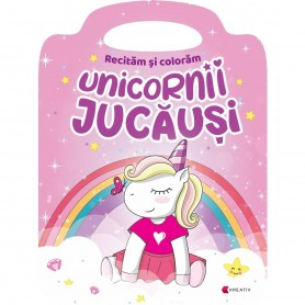 Carte de colorat Unicornii jucausi Editura Kreativ EK8572 Initiala