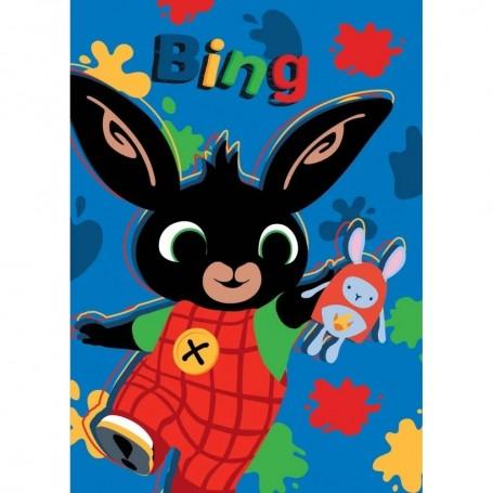 Paturica copii Bing Hoppity Voosh 100 x 140 cm SunCity STN903200 Albastru