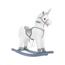 Balansoar Unicorn Alb, interactiv, 65 cm Kruzzel MY6696 Alb
