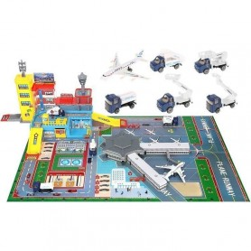 Set aeroport cu pista Iso Trade MY17482 Initiala