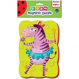 Puzzle magnetic A5 Zebra Roter Kafer RK1302-01 Initiala