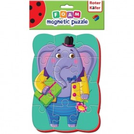 Puzzle magnetic A5 Elefant Roter Kafer RK1302-03 Initiala