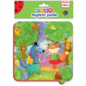 Puzzle magnetic Animale din padure Roter Kafer RK5010-03 Initiala