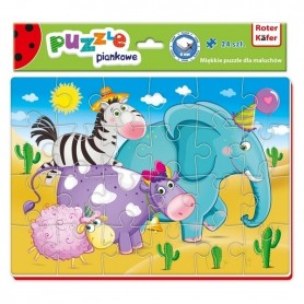 Puzzle Animals 24 piese Roter Kafer RK1201-02 Initiala