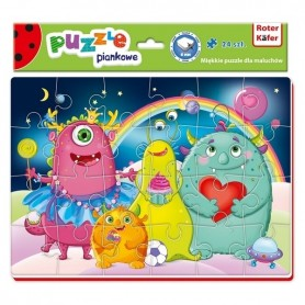 Puzzle Funny Monsters 24 piese Roter Kafer RK1201-03 Initiala